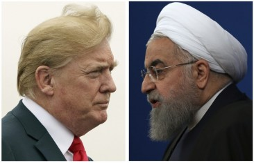 How far could Trump's remarks on Iran be construed as a climb-down from his hawkish policy?