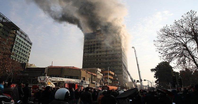 حريق برج طهران