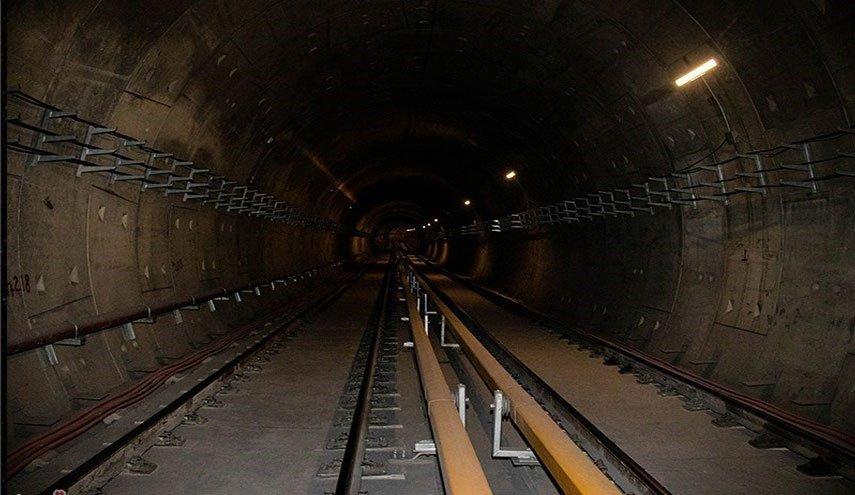 انحراف-قطارٍ-عن-القضبان-في-أحد-خطوط-مترو-طهران.
