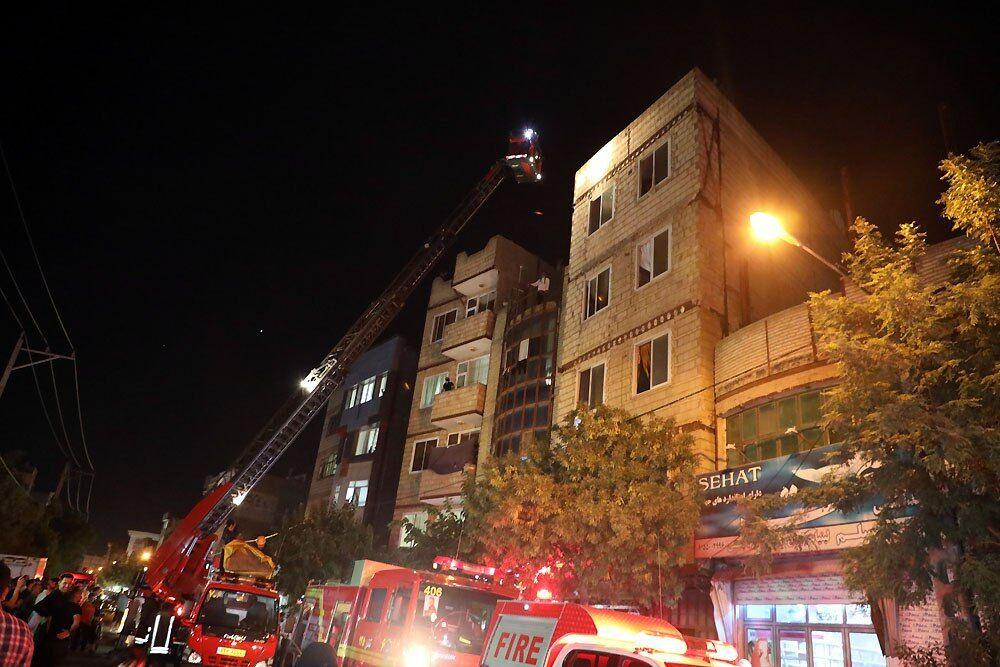 اندلاع حريق في شقة سكنية بمدينة مشهد