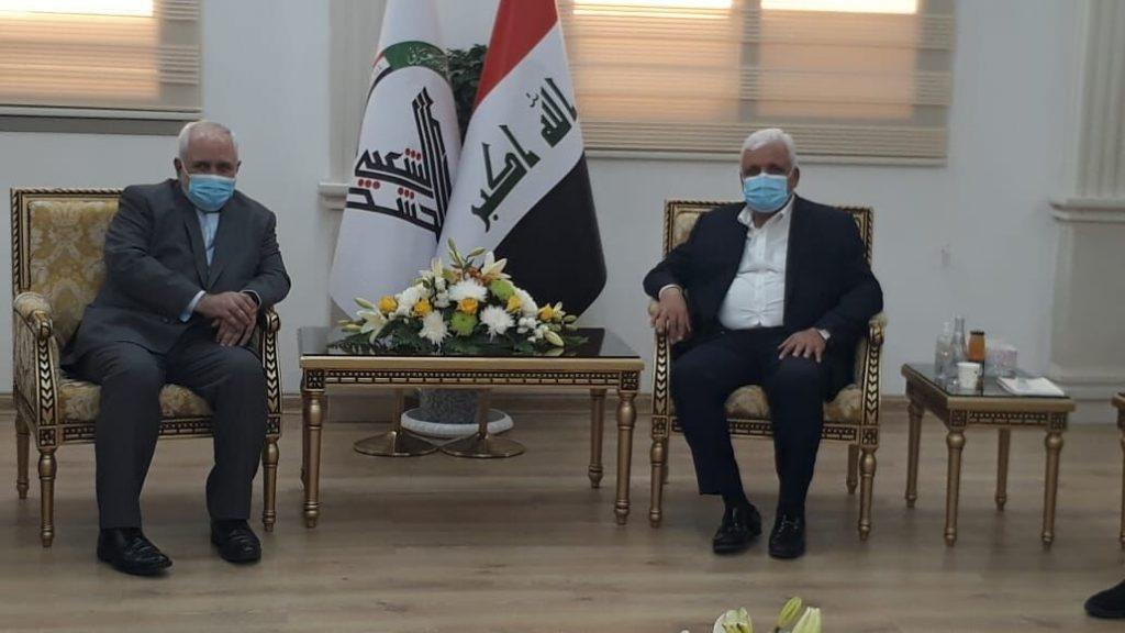 ظريف يجتمع مع رئيس الحشد الشعبي العراقي