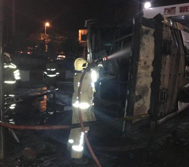 انفجار محطَّة بنزين بشارع بيروزي في طهران